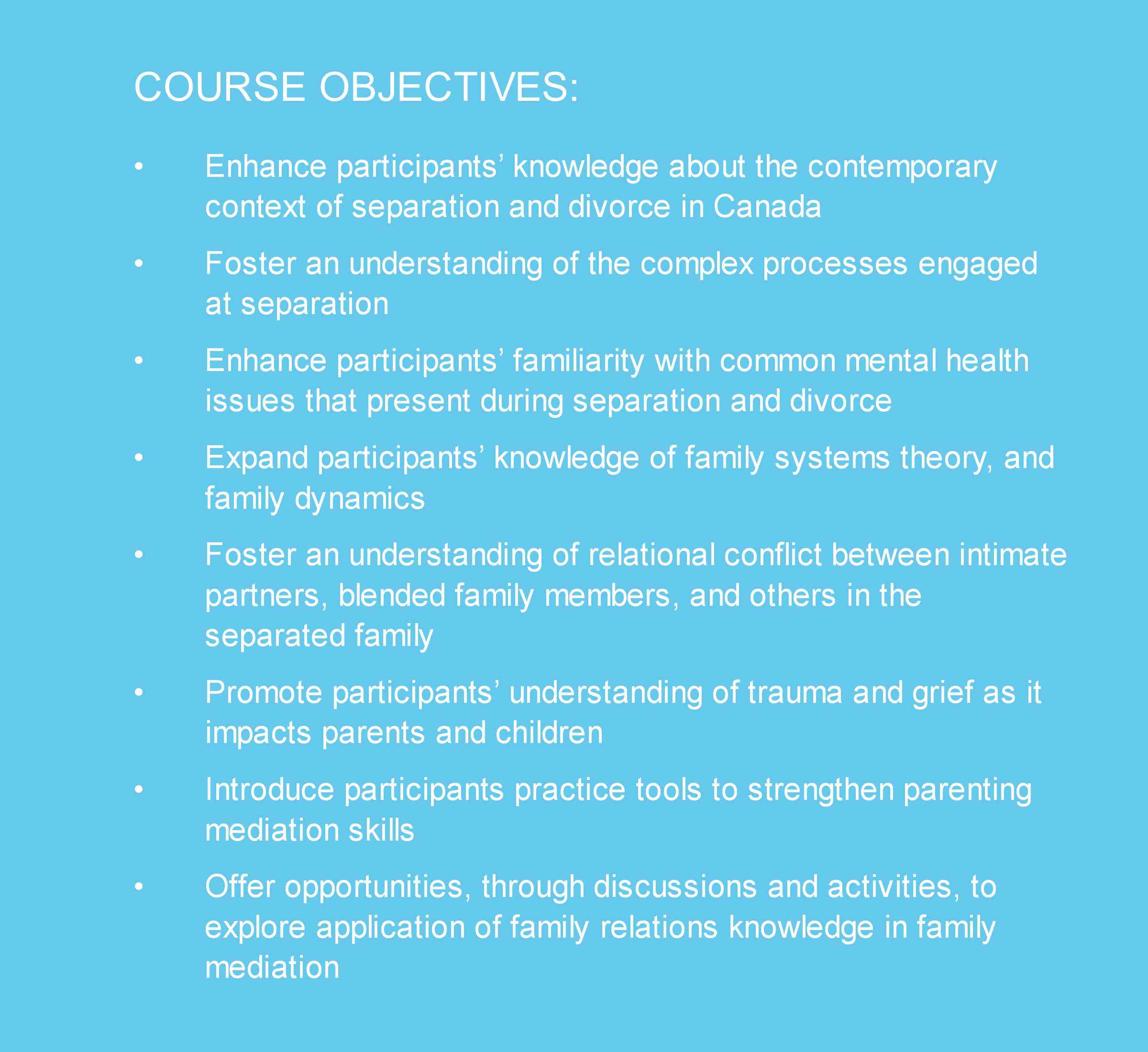 family-relations-objectives